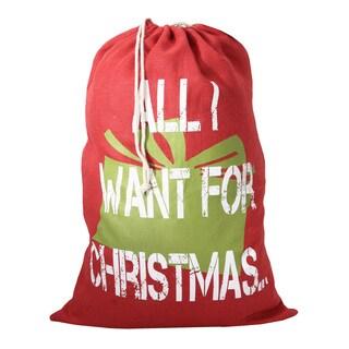 All I Want For Christmas Santa Sack