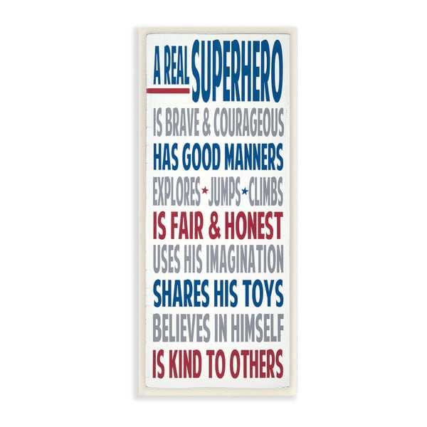 A Real Superhero Typography Art Wall Plaque