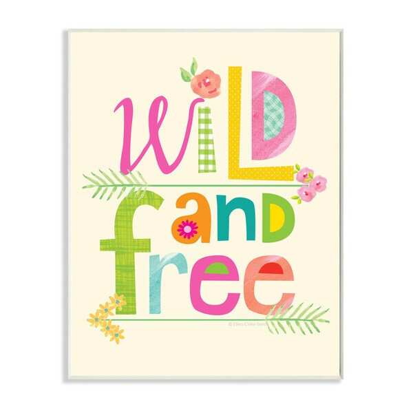 Wild And Free Textual Art Wall Plaque