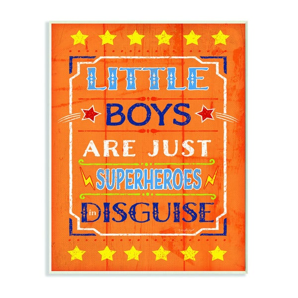 Little Boys Are Just Superheroes In Disguise Textual Art Wall Plaque