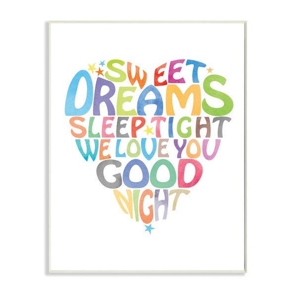 Sweet Dreams Heart Graphic Art Wall Plaque