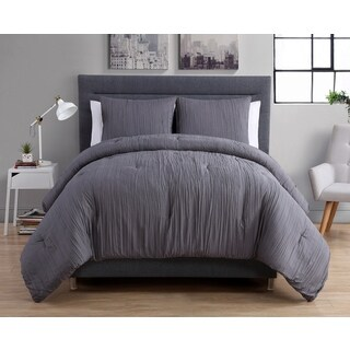 VCNY Crinkle 3-piece Duvet Cover Set