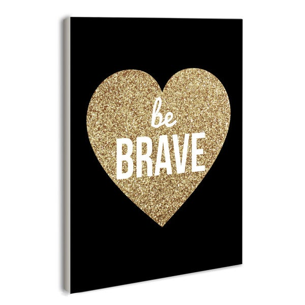 lulusimonSTUDIO Be Brave Glitter Boutique Chic Wall Plaque