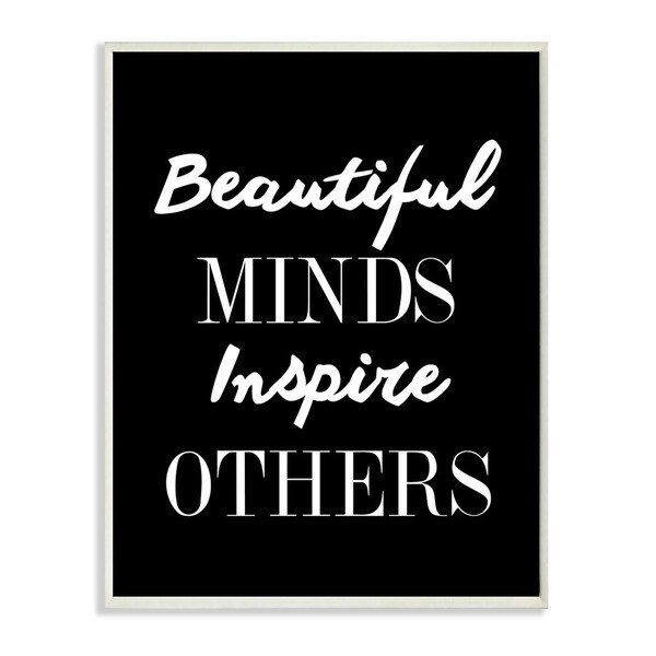 lulusimonSTUDIO Beautiful Minds Inspire Others Boutique Chic Wall Plaque