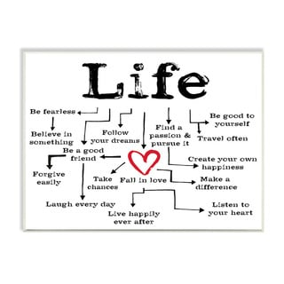 Stupell Life Path to Heart Inspirational Textual Art Wall Plaque