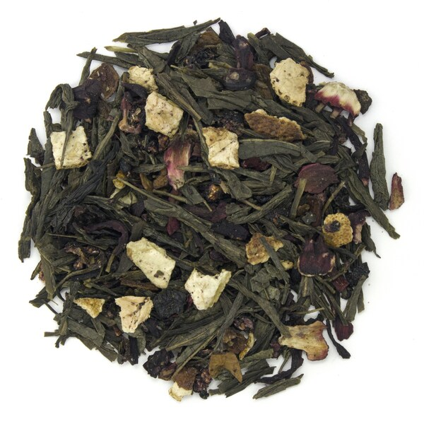Teas Etc Blueberry Hibiscus 3-ounce Loose Leaf Green Tea