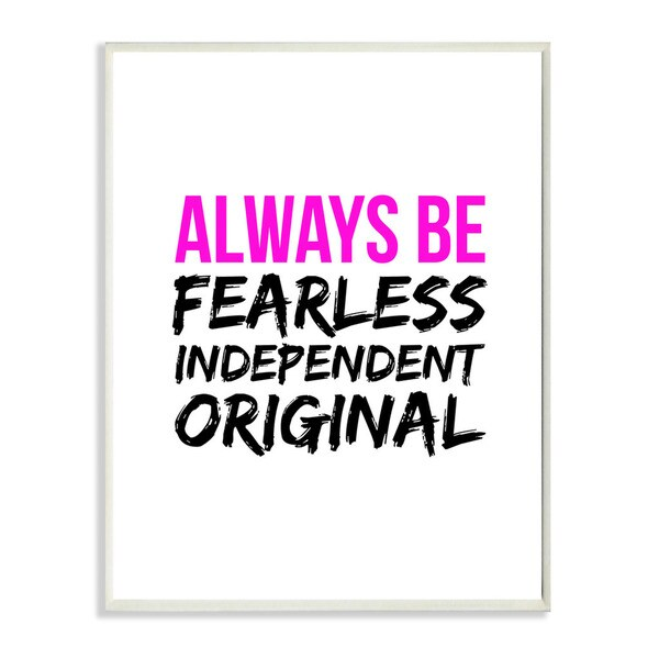 lulusimonSTUDIO Always Be Fearless Independent Original Boutique Chic Wall Plaque