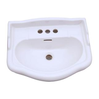 English Turn 26 in. Pedestal Sink Basin Only in White