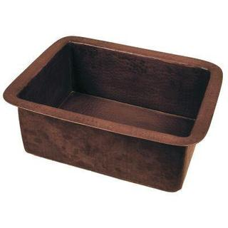 Self-Rimming/Undermount Copper 16-inch x 12-inch x 6-inch 0-Hole Single Bowl Bar Sink in Oil Rubbed Bronze