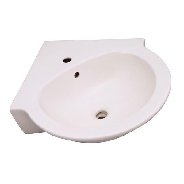 Evolution Corner Pedestal Basin Only in White