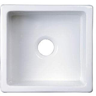 Silvia All-in-One Undermount Fire Clay 17.75-inch 0-Hole Single Bowl Kitchen Sink in White