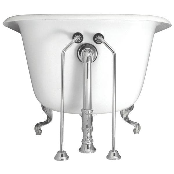 0.5-inch x 24-inch Brass Double Offset Bath Supplies in Chrome