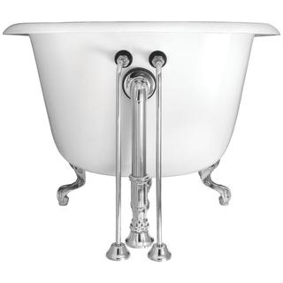 22-inch Brass Double Offset Bath Supplies in Chrome