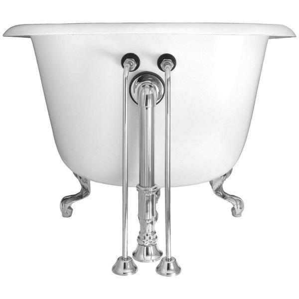22-inch Brass Single Offset Bath Supply in Polished Brass