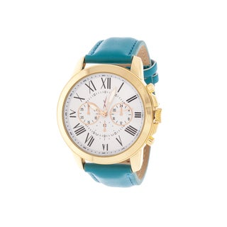 Xtreme Men's Gold Case and White Dial / Green Leather Strap Watch