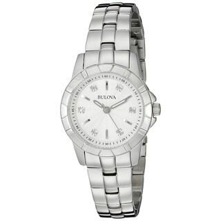 Bulova Women's 96P121 'Classic' Diamond Stainless Steel Watch