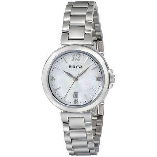 Bulova Women's 96P149 Diamond Stainless Steel Watch