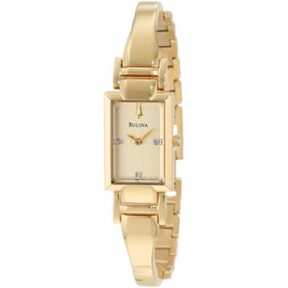 Bulova Women's 97P104 'Classic' Crystal Gold-Tone Stainless Steel Watch