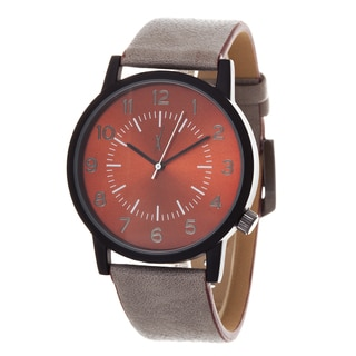 Xtreme Men's Antique Black Case and Brown Dial / Grey Leather Strap Watch