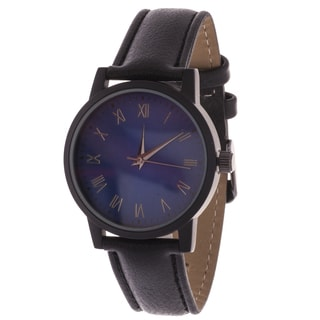 Xtreme Men's Black Case and Blue Dial / Black Leather Strap Watch