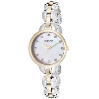 Bulova Women's 98L208 Crystal Two-Tone Stainless Steel Watch
