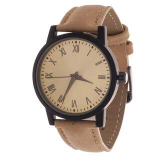 Xtreme Men's Black Case and Gold Dial / Beige Leather Strap Watch