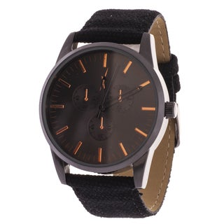 Xtreme Men's Gun Metal Case and Black Dial / Black Canvas Strap Watch