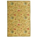 Hand-tufted Antique Gold/ Gold Wool Rug (5' x 8')