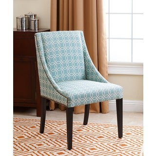 Abbyson Living Sara Swoop Dining Chair, Teal Pattern