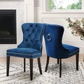 Abbyson Living Versailles Tufted Dining Chair, Navy Blue
