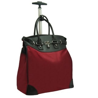 Rollies Classic Microfiber Rolling Carry-on 14-inch Laptop/ Tablet Tote Bag Red