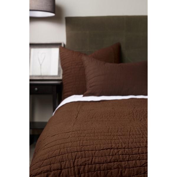 Brown Cotton Quilt Set