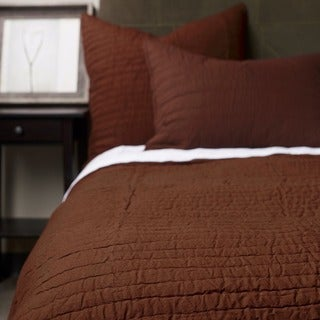 Brown Cotton Quilt Set