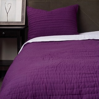 Purple Cotton Quilt Set Purple