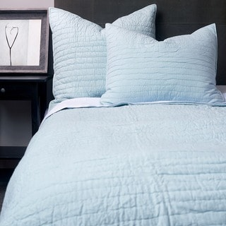 Bacis Cotton Quilt Set Light Blue