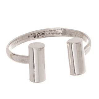 Pori Sterling Silver Bar Ends Cuff Ring