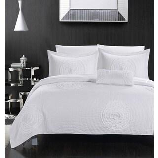 Chic Home Mercury White 4-piece Quilt Set