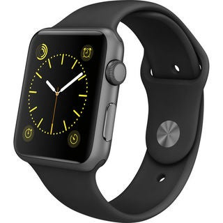 Apple Watch Sport Smartwatch (42mm, Space Gray Aluminum, Black Band)