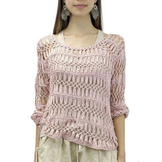 Pink Lily of the Valley Sweater