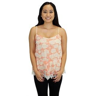 Blu Pepper Women's Coralite Sunflower Print Top