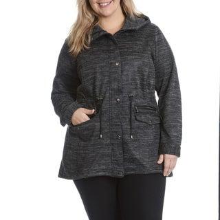 Steve Madden Women's Plus Size Hooded Sweater Anorak
