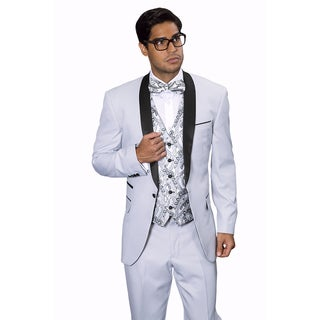 Statement Men's Capri Silver Tuxedo Suit