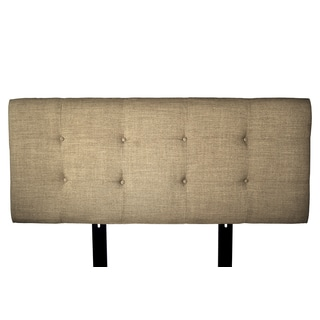 MJL Furniture Ali Button Tufted Allure Pebble Upholstered Headboard