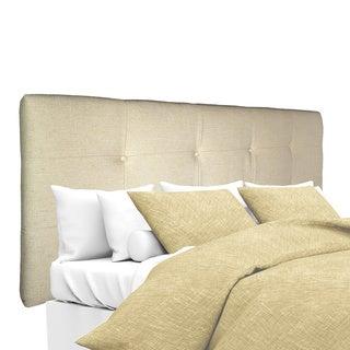 MJL Furniture Ali Button-tufted Belfast Linen Upholstered Headboard