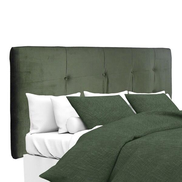 MJL Furniture Ali Button-tufted Ennis Pewter Upholstered Headboard