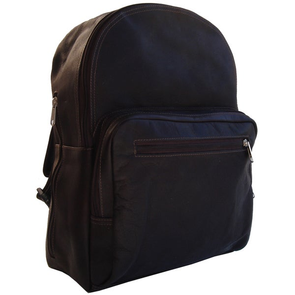 Piel Leather Chocolate Traditional Backpack