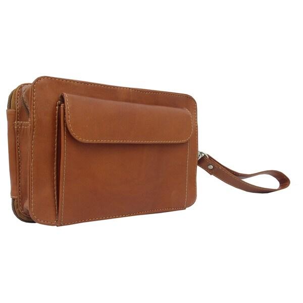 Piel Leather 8-inch Organizer Wristlet Bag