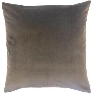 Nizar Solid Coal 18-inch Throw Pillow