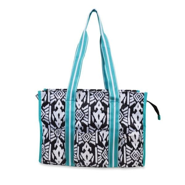 All For Color Aztec Ikat Organize It Tote