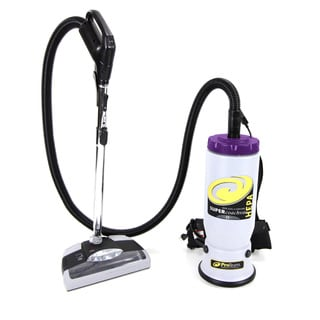 Proteam Super CoachVac 10 Quart Backpack Vacuum Cleaner With Power Head Coach Vac Quart